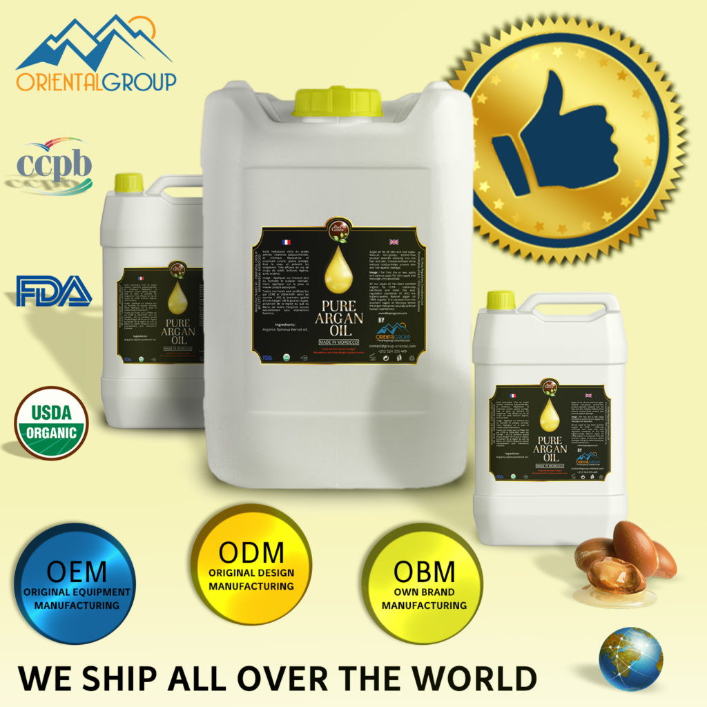 Certified Organic Bulk Argan oil wholesale